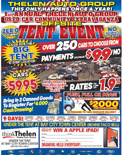 Thelen Auto Group Used Car Community Extravaganza Starts Tomorrow in Bay City!