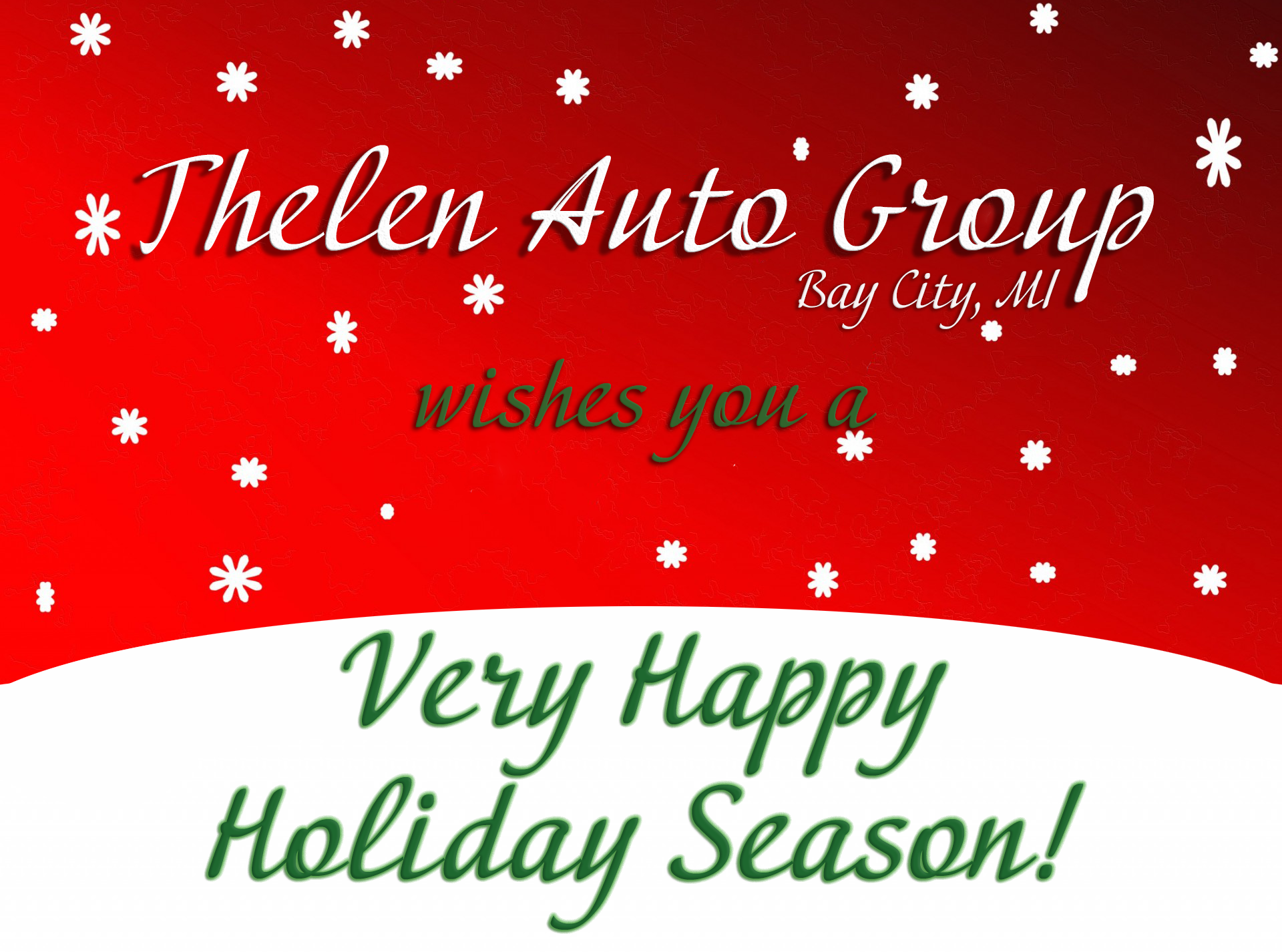 Happy Holidays from Thelen Audi in Bay City, Michigan