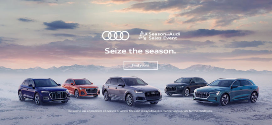 It is the Season of Audi Sales Event at Thelen Audi in Bay City